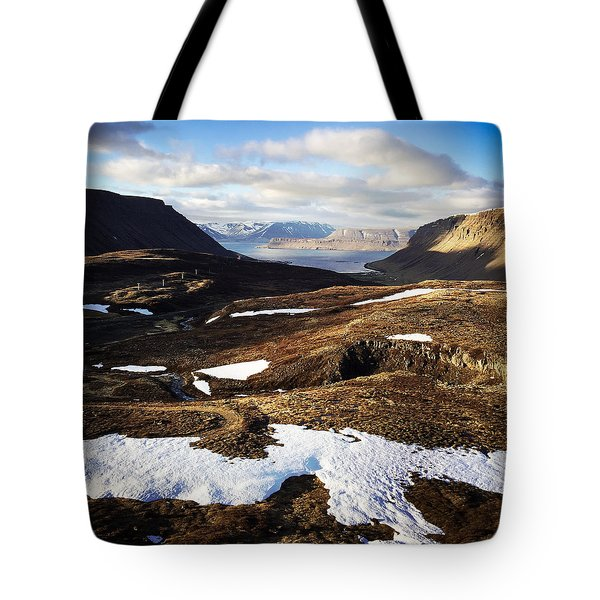 Mountain Pass In Iceland Tote Bag