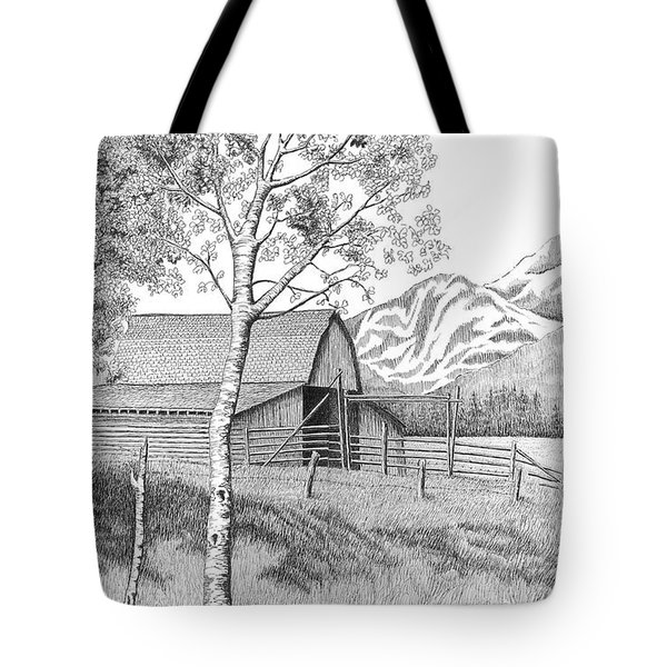 Mountain Pastoral Tote Bag