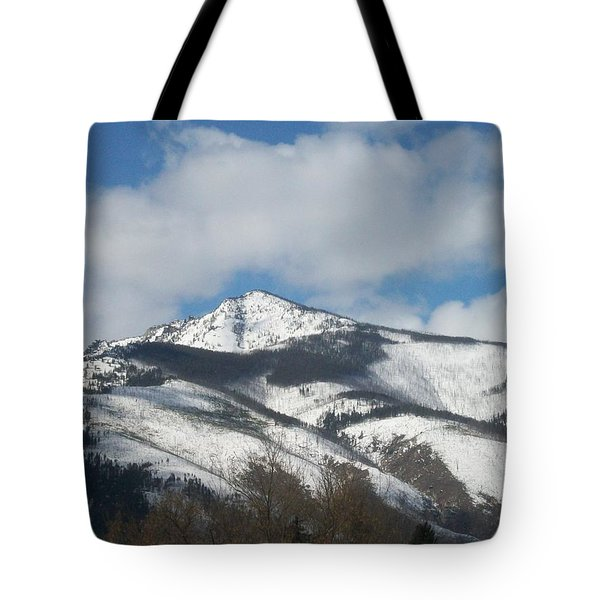 Mountain Peak Tote Bag by Jewel Hengen