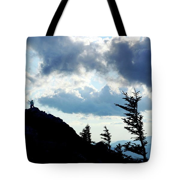 Mountain Peak Tote Bag by Meta Gatschenberger