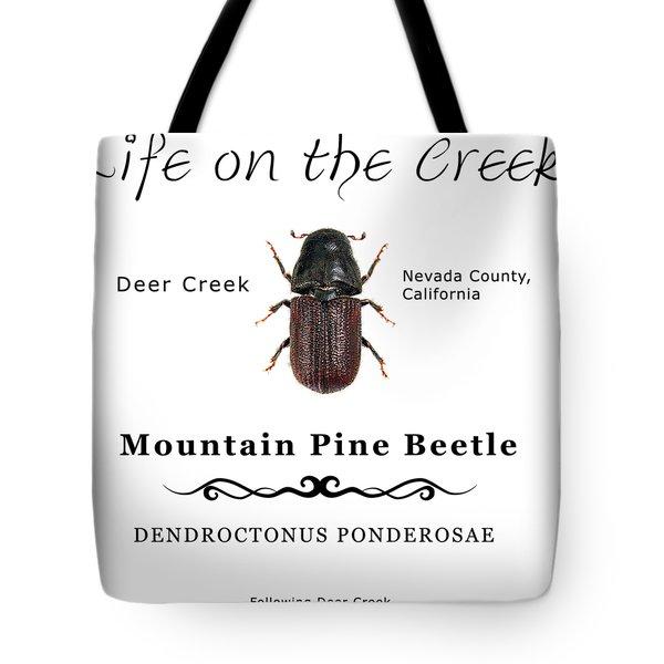 Mountain Pine Beetle Color Tote Bag