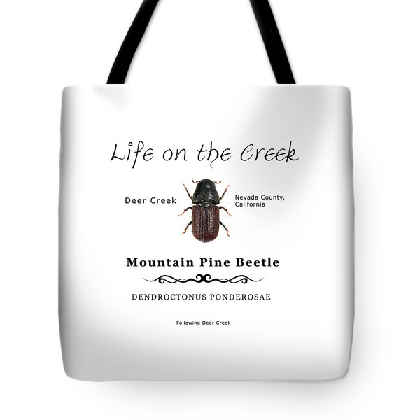 Mountain Pine Beetle Color Tote Bag