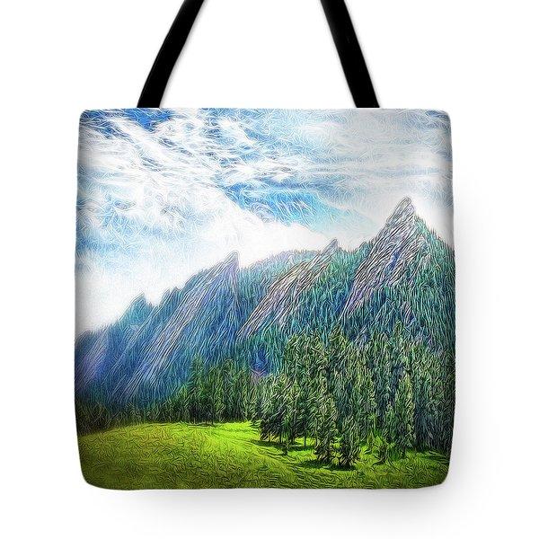 Mountain Pine Meadow Tote Bag