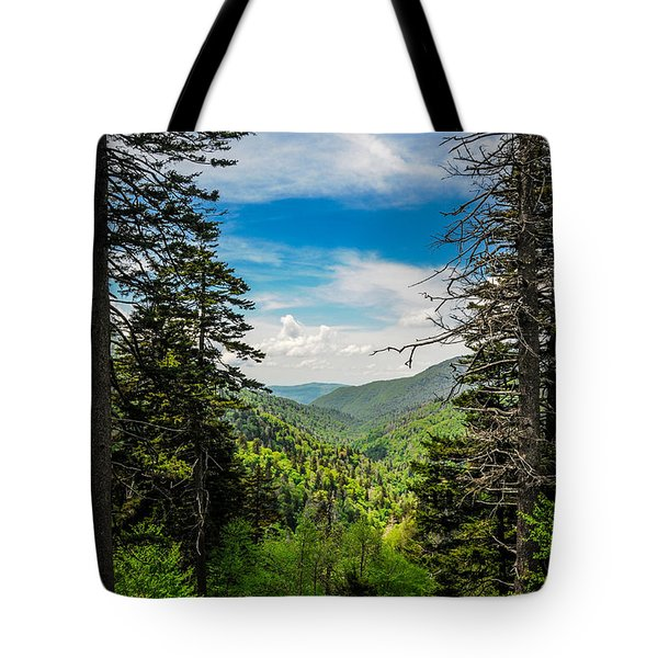 Mountain Pines Tote Bag