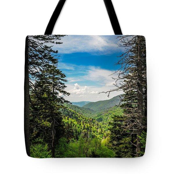 Mountain Pines Tote Bag