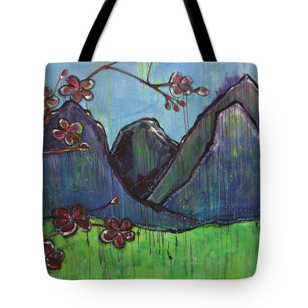 Mountain Pose Tote Bag by Laurie Maves ART