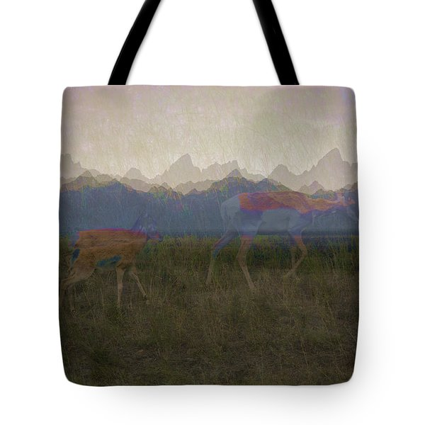 Mountain Pronghorns Tote Bag