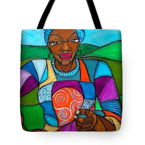 Mountain Quilter Tote Bag by Jenny Pickens
