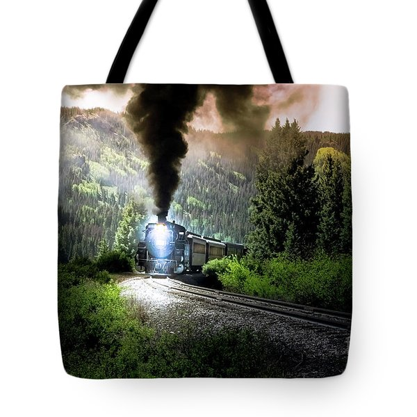 Tote Bag featuring the photograph Mountain Railway - Morning Whistle by Robert Frederick