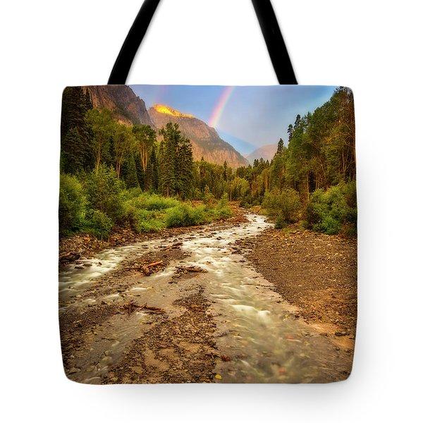 Mountain Rainbow Tote Bag