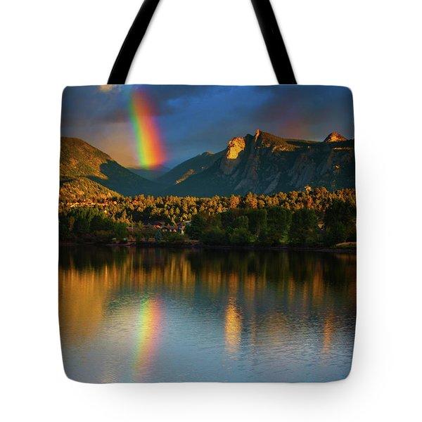 Mountain Rainbows Tote Bag