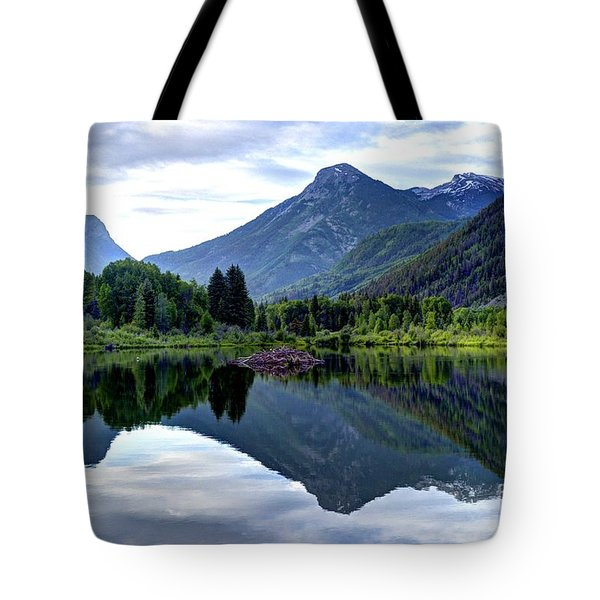 Elk Mountain Reflections Tote Bag