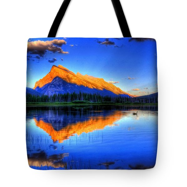 Mountain Reflection Tote Bag by Sean McDunn