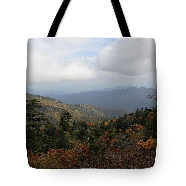 Mountain Ridge View Tote Bag