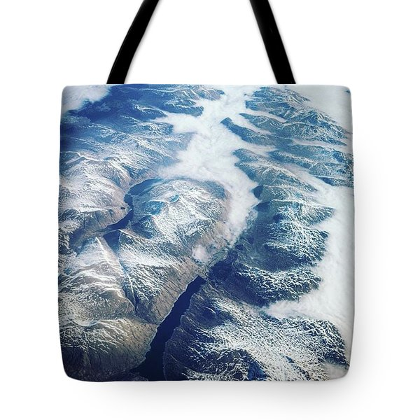 Mountain Ridges, Aerial View Over Tote Bag