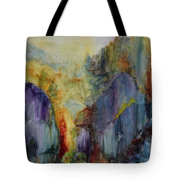 Mountain Scene Tote Bag