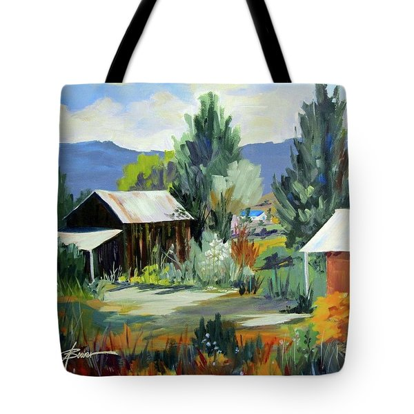 Mountain Settlement In New Mexico  Tote Bag