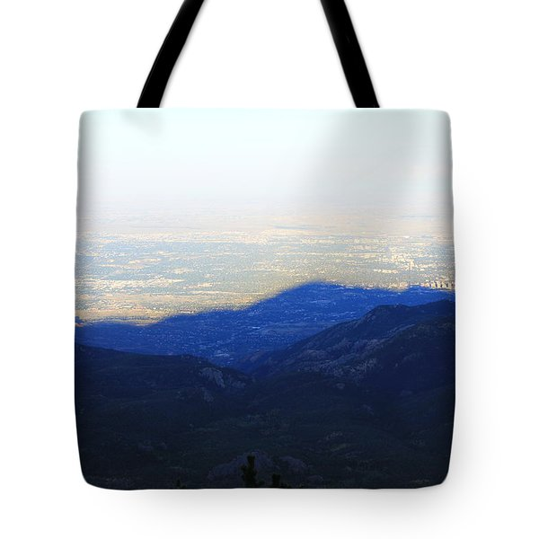 Mountain Shadow Tote Bag by Christin Brodie