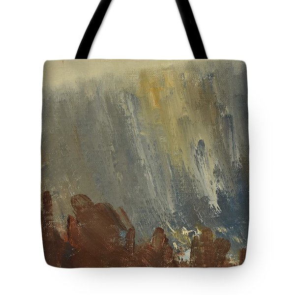 Mountain Side In Autumn Mist. Up To 90x120 Cm Tote Bag