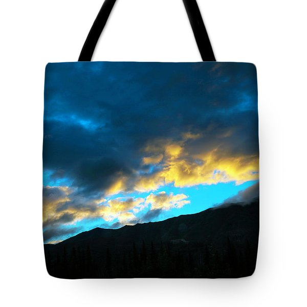 Tote Bag featuring the photograph Mountain Silhouette by Madeline Ellis