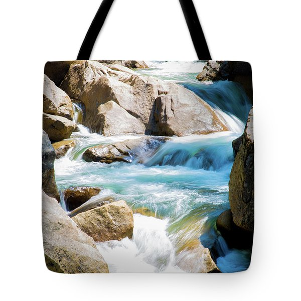 Tote Bag featuring the photograph Mountain Spring Water by T A Davies