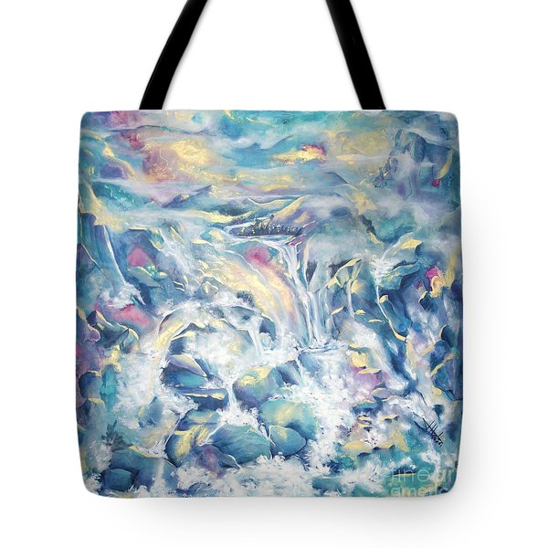 Mountain Storm Tote Bag