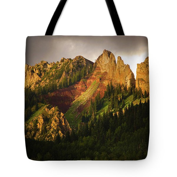 Mountain Storm Light Tote Bag