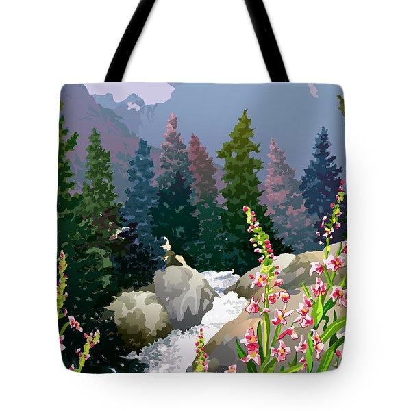 Mountain Stream Tote Bag