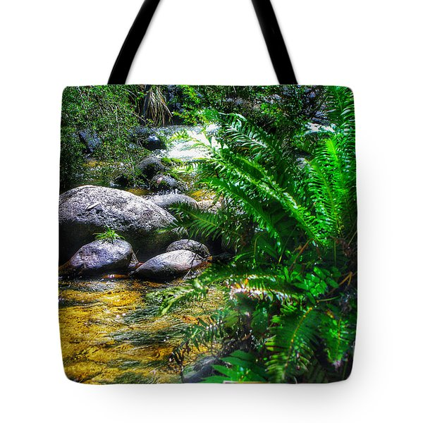 Mountain Stream Tote Bag by Blair Stuart