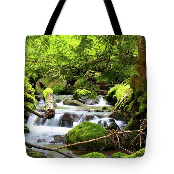Mountain Stream In The Pacific Northwest Tote Bag