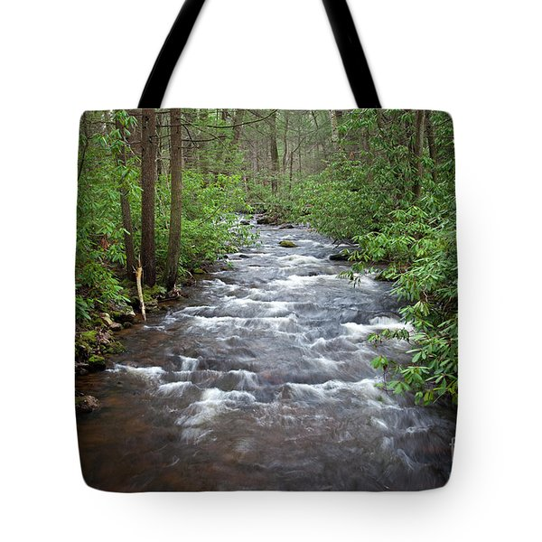 Tote Bag featuring the photograph Mountain Stream Laurel by John Stephens