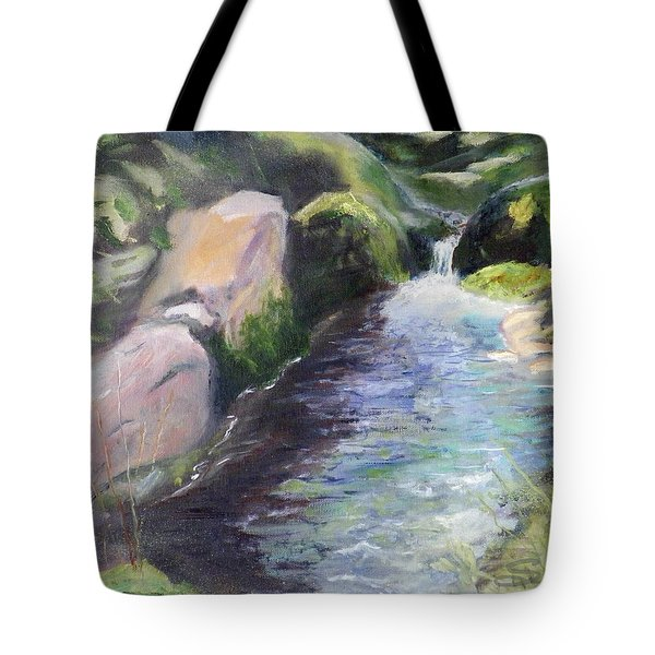 mountain Stream Tote Bag by Sherril Porter