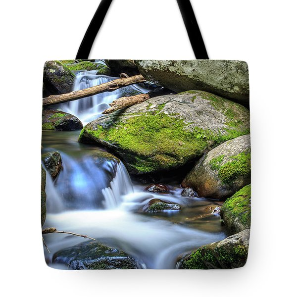 Mountain Stream V Tote Bag