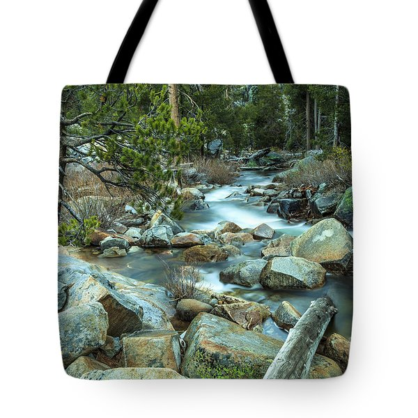 Mountain Stream Yosemite Tote Bag