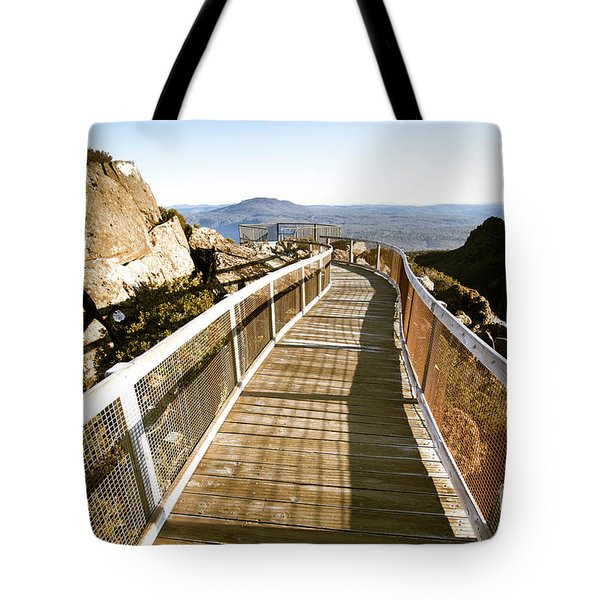 Mountain Summit Lookout Tote Bag