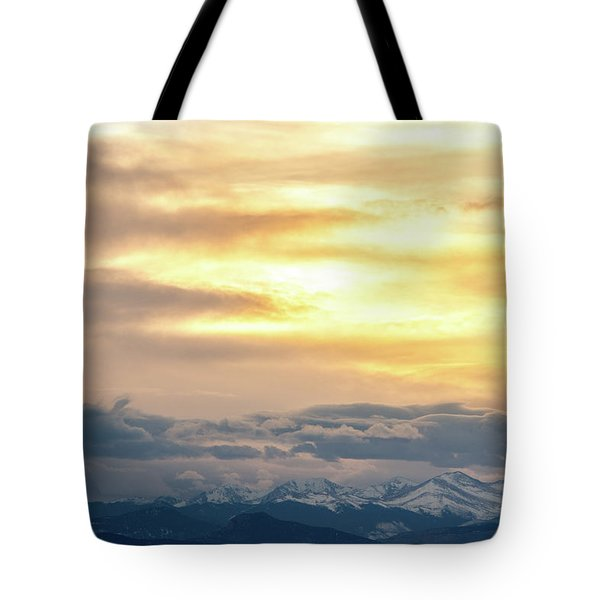 Tote Bag featuring the photograph Mountain Sun by Tyson Kinnison