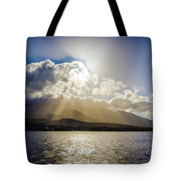 Mountain Sunbeams Tote Bag