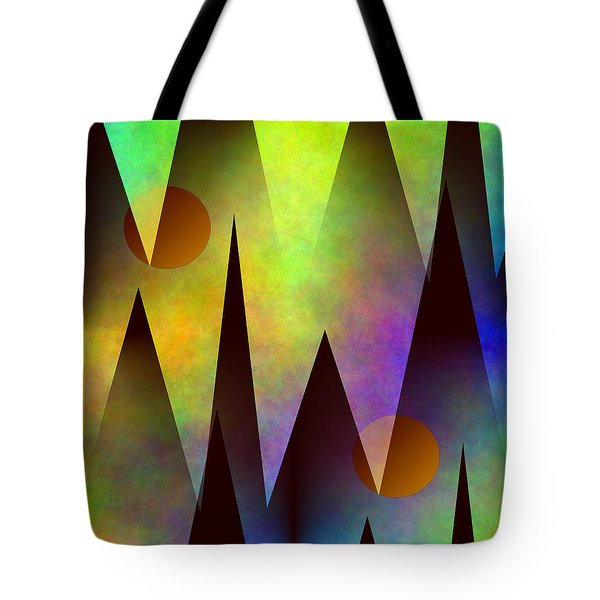 Mountain Sunset Abstract Tote Bag