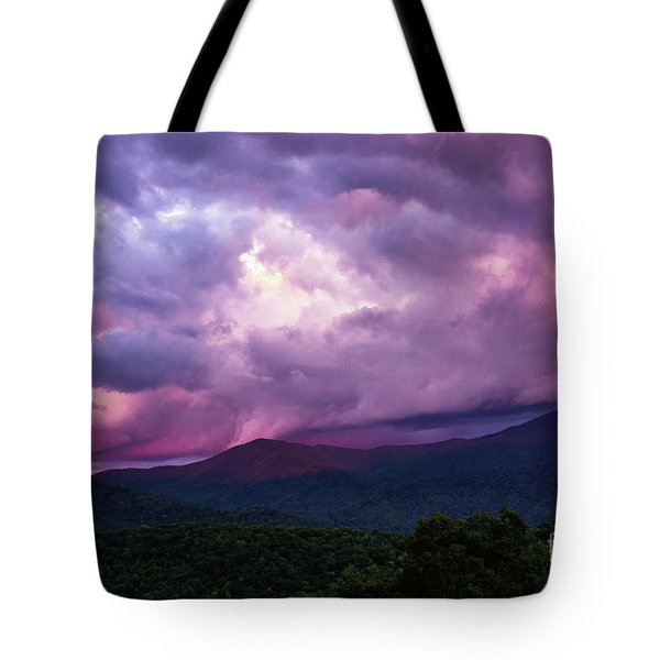Mountain Sunset In The East Tote Bag