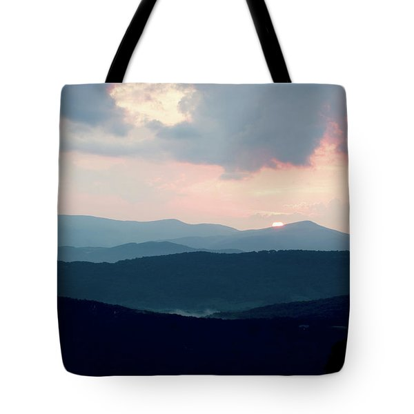 Blue Ridge Mountain Sunset Tote Bag by Meta Gatschenberger