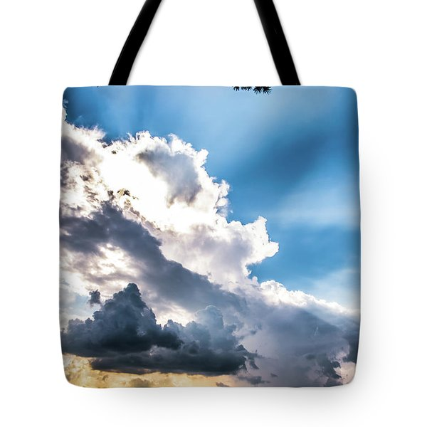 Tote Bag featuring the photograph Mountain Sunset Sightings by Shelby Young
