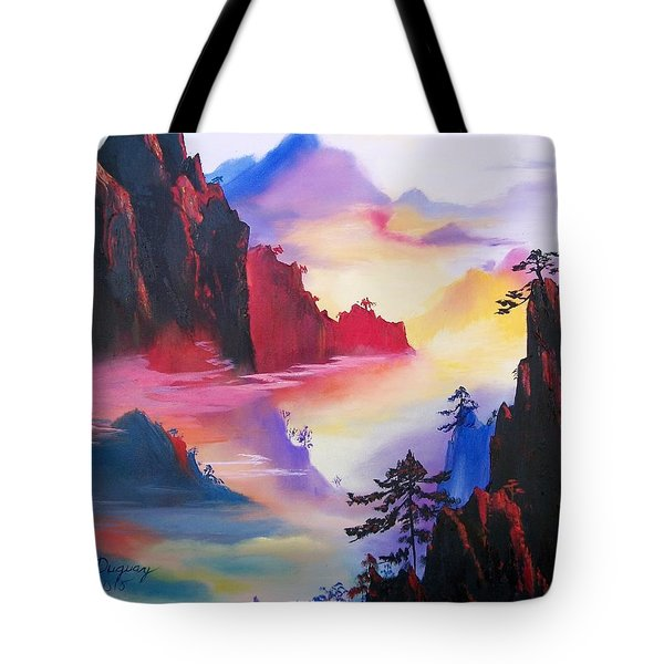 Mountain Top Sunrise Tote Bag