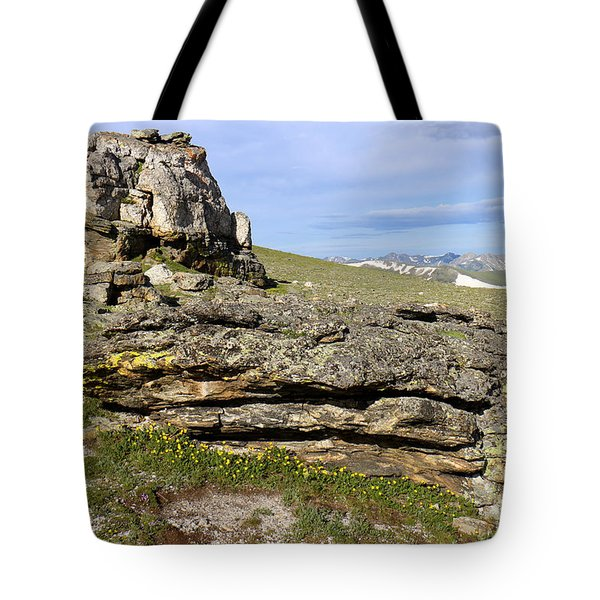 Mountain Tundra Tote Bag by Scott Kingery