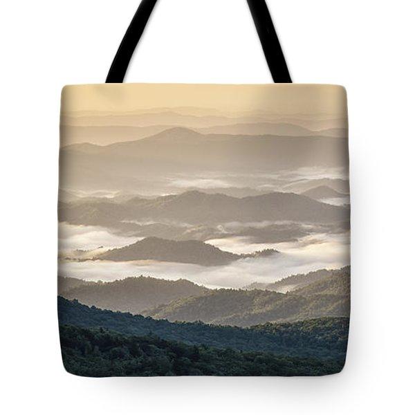 Mountain Valley Fog - Blue Ridge Parkway Tote Bag