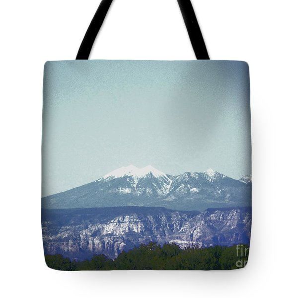 Mountain View Tote Bag by Debbie Wells