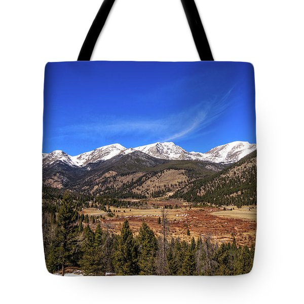 Mountain View From Fall River Road In Rocky Mountain National Pa Tote Bag by Peter Ciro