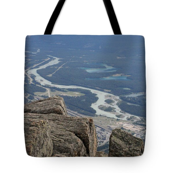 Tote Bag featuring the photograph Mountain View by Mary Mikawoz