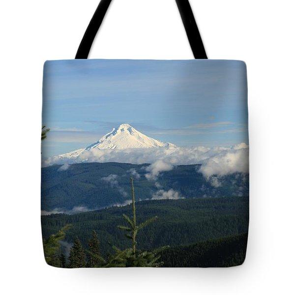 Mountain View Tote Bag by Sheila Ping