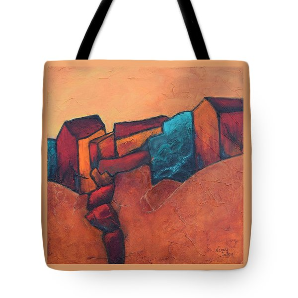 Mountain Village Tote Bag