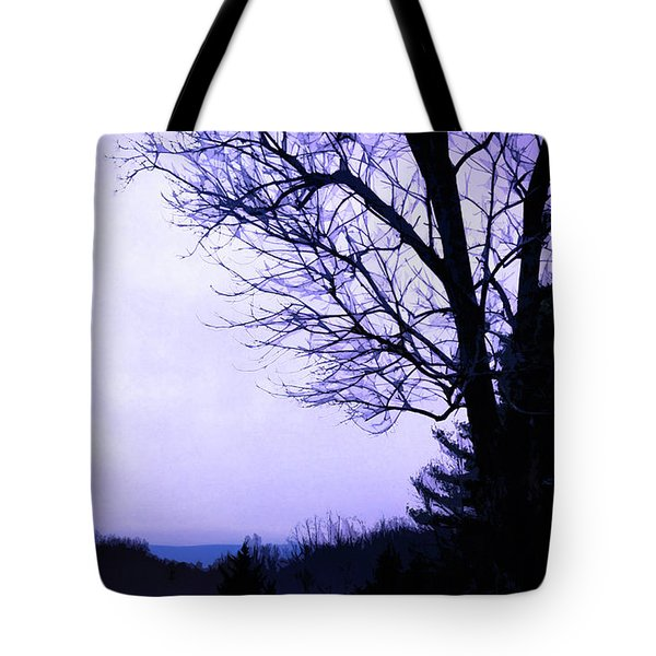 Tote Bag featuring the digital art Mountain Vista by Gina Harrison